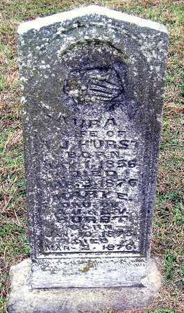 PEARSON HURST, LAURA VIRGINIA - Newton County, Missouri | LAURA VIRGINIA PEARSON HURST - Missouri Gravestone Photos