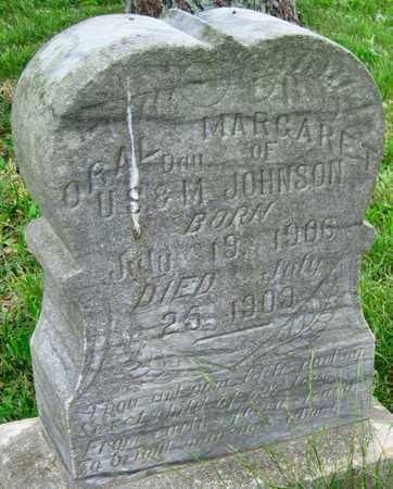 JOHNSON, ORAL MARGARET - Newton County, Missouri   ORAL MARGARET JOHNSON - Missouri Gravestone Photos