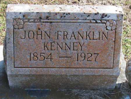KENNEY, JOHN FRANKLIN SR - Newton County, Missouri | JOHN FRANKLIN SR KENNEY - Missouri Gravestone Photos