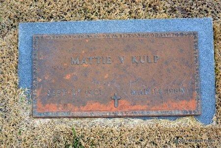 KULP, MATTIE V. - Newton County, Missouri   MATTIE V. KULP - Missouri Gravestone Photos