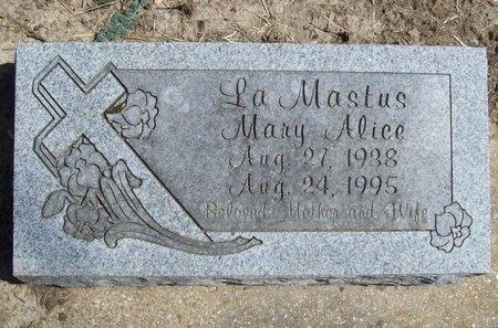 LAMASTUS, MARY ALICE - Newton County, Missouri | MARY ALICE LAMASTUS - Missouri Gravestone Photos
