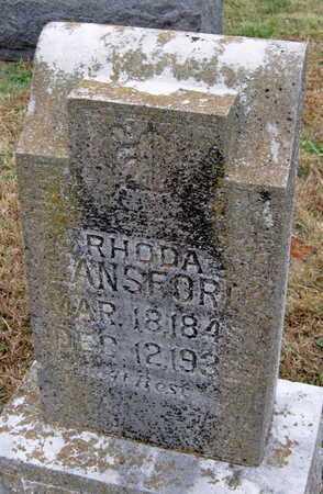 LANSFORD, RHODA - Newton County, Missouri | RHODA LANSFORD - Missouri Gravestone Photos