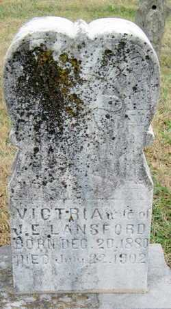 LANSFORD, VICTORIA - Newton County, Missouri | VICTORIA LANSFORD - Missouri Gravestone Photos