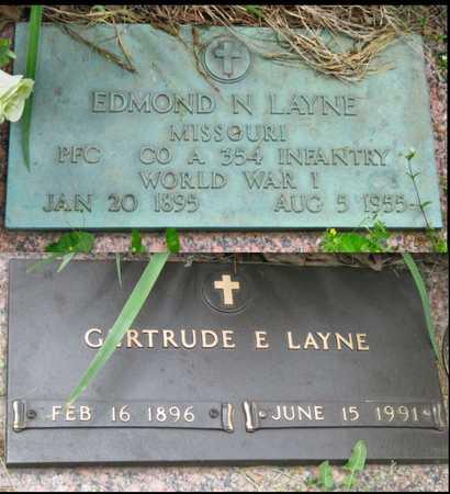 LAYNE, EDMOND N VETERAN WWI - Newton County, Missouri | EDMOND N VETERAN WWI LAYNE - Missouri Gravestone Photos