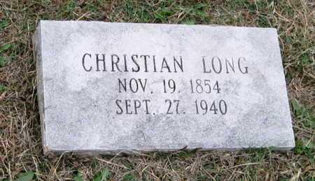 LONG, CHRISTIAN - Newton County, Missouri | CHRISTIAN LONG - Missouri Gravestone Photos