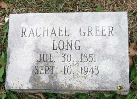 GREER LONG, RACHEL - Newton County, Missouri | RACHEL GREER LONG - Missouri Gravestone Photos