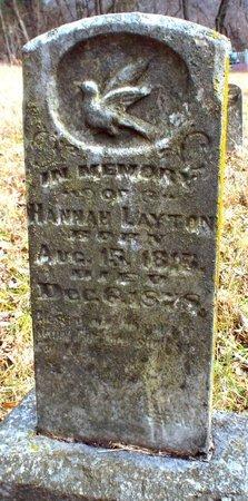 LAYTON, HANNAH - Newton County, Missouri | HANNAH LAYTON - Missouri Gravestone Photos
