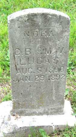 LUCAS, NORA - Newton County, Missouri | NORA LUCAS - Missouri Gravestone Photos
