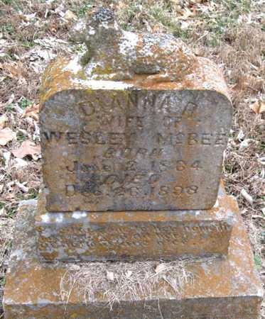 WINCHESTER MCBEE, DINAH REBECCA - Newton County, Missouri | DINAH REBECCA WINCHESTER MCBEE - Missouri Gravestone Photos