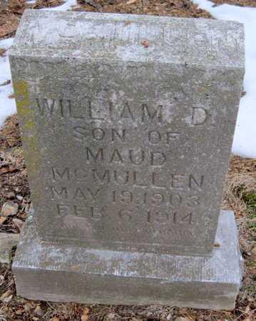 MCMULLEN, WILLIAM D - Newton County, Missouri   WILLIAM D MCMULLEN - Missouri Gravestone Photos