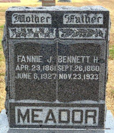 MEADOR, FANNIE J. - Newton County, Missouri | FANNIE J. MEADOR - Missouri Gravestone Photos