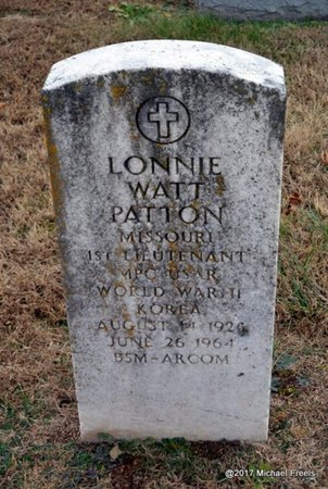 PATTON, LONNIE WATT VETERAN 2 WARS - Newton County, Missouri   LONNIE WATT VETERAN 2 WARS PATTON - Missouri Gravestone Photos