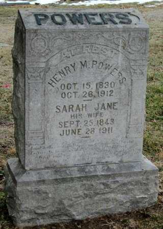 POWERS, HENRY M - Newton County, Missouri   HENRY M POWERS - Missouri Gravestone Photos