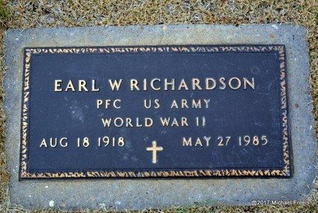 RICHARDSON, EARL W. VETERAN WWII - Newton County, Missouri   EARL W. VETERAN WWII RICHARDSON - Missouri Gravestone Photos
