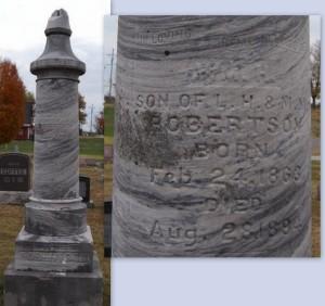 ROBERTSON, WILLIAM H - Newton County, Missouri | WILLIAM H ROBERTSON - Missouri Gravestone Photos