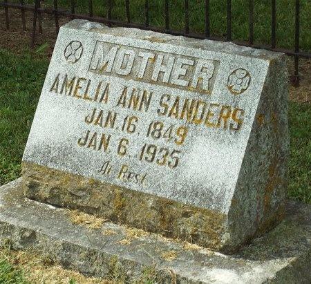 SANDERS, AMELIA ANN - Newton County, Missouri | AMELIA ANN SANDERS - Missouri Gravestone Photos