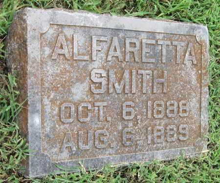 SMITH, ALFARETTA - Newton County, Missouri | ALFARETTA SMITH - Missouri Gravestone Photos