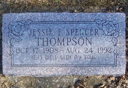 THOMPSON, JESSIE F. - Newton County, Missouri | JESSIE F. THOMPSON - Missouri Gravestone Photos