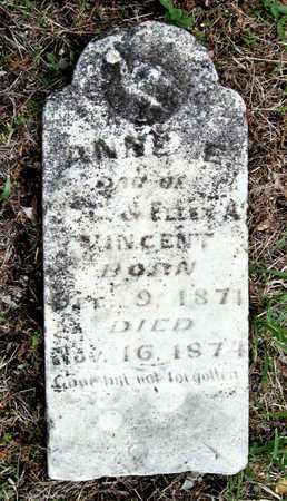 VINCENT, ANNE E - Newton County, Missouri | ANNE E VINCENT - Missouri Gravestone Photos