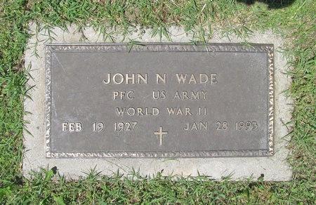 WADE, JOHN N (VETERAN WWII) - Newton County, Missouri | JOHN N (VETERAN WWII) WADE - Missouri Gravestone Photos
