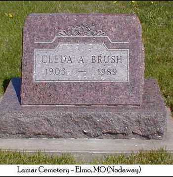 BRUSH, CLEDA A. - Nodaway County, Missouri | CLEDA A. BRUSH - Missouri Gravestone Photos