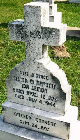 SEMON, MARIA ANTONIA IDA SISTER - Nodaway County, Missouri | MARIA ANTONIA IDA SISTER SEMON - Missouri Gravestone Photos