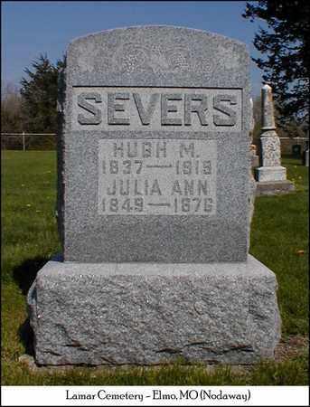 SEVERS, HUGH M. - Nodaway County, Missouri | HUGH M. SEVERS - Missouri Gravestone Photos
