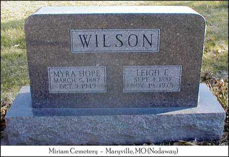 WILSON, LEIGH E. - Nodaway County, Missouri | LEIGH E. WILSON - Missouri Gravestone Photos