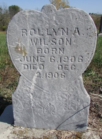 WILSON, ROLLYN A. - Nodaway County, Missouri | ROLLYN A. WILSON - Missouri Gravestone Photos