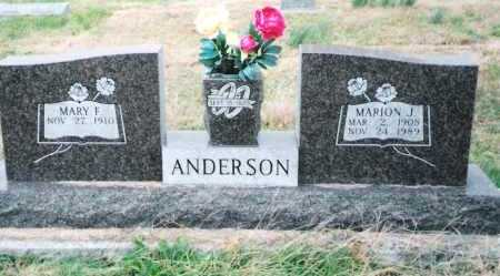 ANDERSON, MARION J. - Osage County, Missouri | MARION J. ANDERSON - Missouri Gravestone Photos