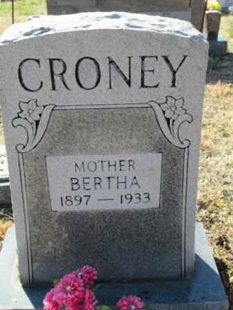 CRONEY, BERTHA - Ozark County, Missouri | BERTHA CRONEY - Missouri Gravestone Photos