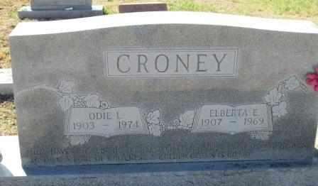 CRONEY, ELBERTA E - Ozark County, Missouri   ELBERTA E CRONEY - Missouri Gravestone Photos