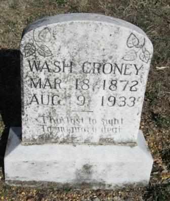 "CRONEY, GEORGE WASHINGTON ""WASH"" - Ozark County, Missouri | GEORGE WASHINGTON ""WASH"" CRONEY - Missouri Gravestone Photos"