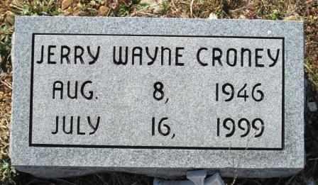 CRONEY, JERRY WAYNE - Ozark County, Missouri | JERRY WAYNE CRONEY - Missouri Gravestone Photos