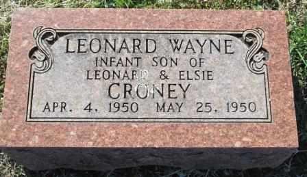 CRONEY, LEONARD WAYNE - Ozark County, Missouri   LEONARD WAYNE CRONEY - Missouri Gravestone Photos