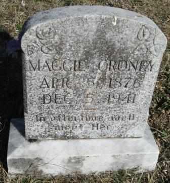 "CRONEY, MARGURITE JANE ""MAGGIE"" - Ozark County, Missouri | MARGURITE JANE ""MAGGIE"" CRONEY - Missouri Gravestone Photos"