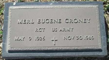 CRONEY, MERLE EUGENE VETERAN - Ozark County, Missouri   MERLE EUGENE VETERAN CRONEY - Missouri Gravestone Photos