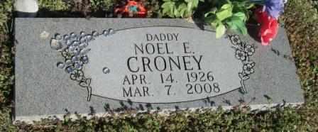 CRONEY, NOEL E VETERAN - Ozark County, Missouri | NOEL E VETERAN CRONEY - Missouri Gravestone Photos