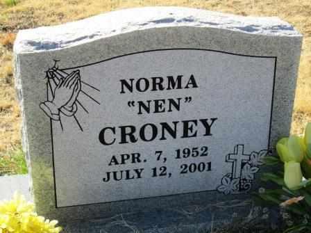"CRONEY, NORMA ""NEN"" - Ozark County, Missouri   NORMA ""NEN"" CRONEY - Missouri Gravestone Photos"