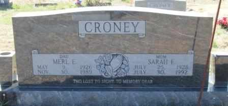 CRONEY, SARAH E - Ozark County, Missouri   SARAH E CRONEY - Missouri Gravestone Photos
