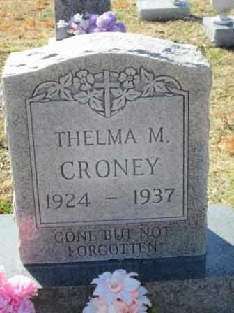 CRONEY, THELMA MAXINE - Ozark County, Missouri | THELMA MAXINE CRONEY - Missouri Gravestone Photos