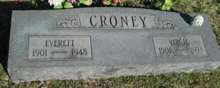NEWTON CRONEY, VIRGIE - Ozark County, Missouri | VIRGIE NEWTON CRONEY - Missouri Gravestone Photos