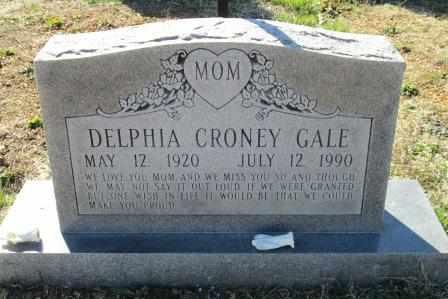 GALE, DELPHIA - Ozark County, Missouri | DELPHIA GALE - Missouri Gravestone Photos