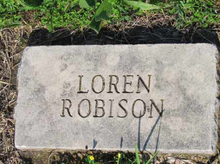 ROBISON, LOREN - Ozark County, Missouri | LOREN ROBISON - Missouri Gravestone Photos