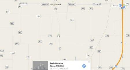 *, CAGLE CEMETERY LOCATION - Pemiscot County, Missouri | CAGLE CEMETERY LOCATION * - Missouri Gravestone Photos