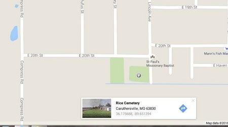 *, RICE CEMETERY - Pemiscot County, Missouri | RICE CEMETERY * - Missouri Gravestone Photos
