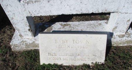 *, BABY TOWN PLAQUE CIRCA 1946 - Pemiscot County, Missouri | BABY TOWN PLAQUE CIRCA 1946 * - Missouri Gravestone Photos