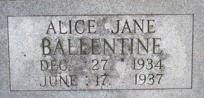 BALLENTINE, ALICE JANE - Pemiscot County, Missouri | ALICE JANE BALLENTINE - Missouri Gravestone Photos