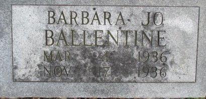 BALLENTINE, BARBARA JO - Pemiscot County, Missouri | BARBARA JO BALLENTINE - Missouri Gravestone Photos