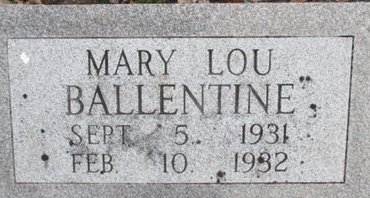 BALLENTINE, MARY LOU - Pemiscot County, Missouri | MARY LOU BALLENTINE - Missouri Gravestone Photos
